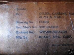 M1 CARBINE OILER BLAKE, BK MARKED,WWII,US