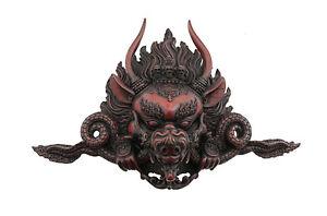 Soprammobile Tibetano Yamantaka Buddista Protettore IN di Resina 37 CM 4990