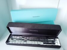 TIFFANY Three Row SQUARES Sterling Bracelet *163 grams * Tiffany Suede/Outer Box