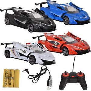 Kids Racing Car Police RC Fast 1:18 Power Remote Control Ferrari USB Battery Toy