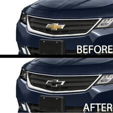 2 Vinyl Sheets Chevy Bowtie Emblem Overlay Grill DIY Cut Wrap Cover Matte Black