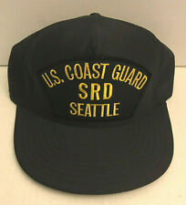 Vintage Us Coast Guard Srd Seattle Military Trucker Snapback Hat/Patch Baseball