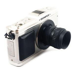 Black 25mm f1.4 Lens for M43 Micro 4/3 M4/3 Olympus PEN EM10 Panasonic Camera