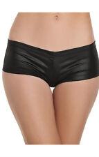 Booty Shorts Cotton Lycra Booty Shorts intimate apparel cloth wear black medium