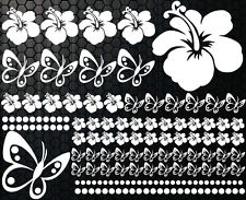 122-parties XXX Autocollants Pour Voiture Hibiscus Fleurs Papillons