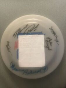 Maurice Richard Terry Oreilly Brad Park Johnny Bucyk +  Signed Auto Frisbee