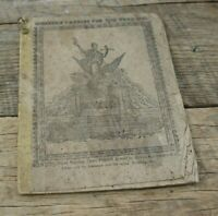Antique Western Patriot For the Year 1841 Farmers Almanac Rare Old Wonderful
