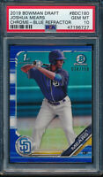 PSA 10 JOSHUA MEARS 1st 2019 Bowman Chrome Draft BLUE REFRACTOR /150 RC GEM MINT