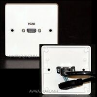 Av Plaque Murale, HDMI Audio Vidéo Prise, v2.0 Prêt HD HDTV 3D 2K 4K + Éthernet