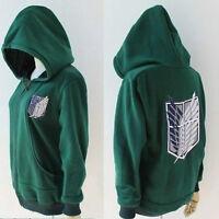 Green,Attack on Titan Shingeki no Kyojin Mikasa Legion Hoodie Cosplay Costume