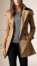 NWT Auth BURBERRY BRIT Women REYMOORE Trench Coat w/Detachable Hood&Liner Size 4