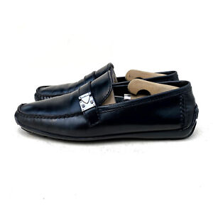 Louis Vuitton Racetrack Black Lather Moccasin Loafer Size US: 8 / EUR: 41