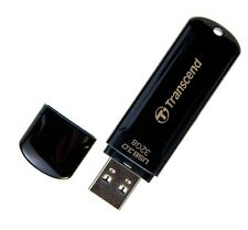 Transcend JetFlash 700 32GB USB 3.0 Flash Stick Pen Memory Drive - Black