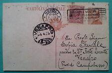 Napoli-Venafro1930: Cartolina postale da Cent. 30 + 10