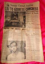 11/24/64 newspaper John KENNEDY Death Lee Harvey OSWALD
