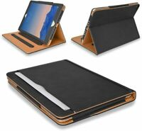 """Genuine Leather TAN Magnetic Case Cover For Apple iPad 2/3/4 Air 10.2,10.5,10.9"""""""