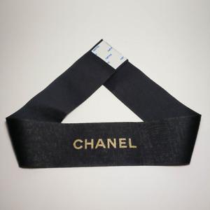 CHANEL Black Ribbon. Decorative Ribbon. 26.77 inch long.