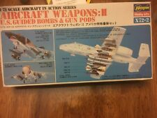 X72-2 Hasegawa aircraft weapons us guided bombs & gun pod model kit unbuilt 1/72