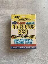 sealed 1987 limited edition fleer baseball's best sluggers v pitchers cards