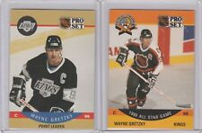 1990 Pro Set #340 #394 Wayne Gretzky Los Angeles Kings