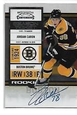 2010-11 Playoff Contenders Jordan Caron Rookie Autograph Boston Bruins