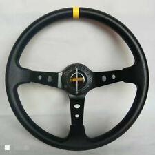 Universal Steering Wheel 350 mm PU DEEP DISH High Quality Black for OMP MOMO