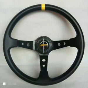 Universal Steering Wheel 350 mm PU DEEP DISH High Quality Black for MO ND UKNEST