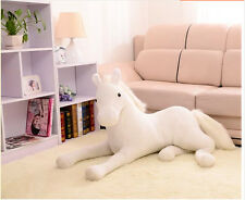 lovely plush simulation horse toy stuffed white horse doll gift about 70cm
