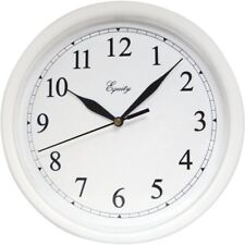 "Equity by La Crosse 10"" White Wall Clock - Brand NEW"