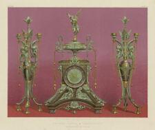 INTERNATIONAL EXHIBITION. Bronze clock & candelabra. M Marchand, Paris 1862