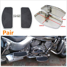 Pair Motorcycles Left+Right Floorboards Footboards Pedal Metal Steel & Rubber