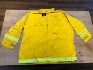 Crew Boss Nomex Wildland Cal Fire Fighting Interim Jacket Yellow Reflective 5XL
