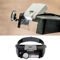 1Pcs SE MH1047L Illuminated Multi-Power LED Head Magnifier !
