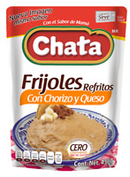 CHATA REFRIED BEANS BAYOS, BLACK, CHILORIO & CHORIZO AND CHEESE 430 g