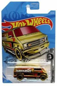 2019 Hot Wheels #23 Super Chromes Custom '77 Dodge Van gold