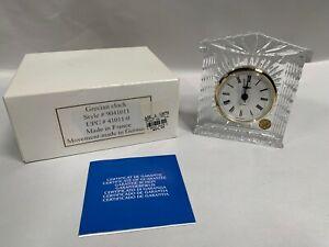 UNUSED Grecian Style Crystal Desk Bedside Battery Clock (A5)