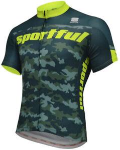 Sportful Camo Short Sleeve Mens Cycling Jersey - Green