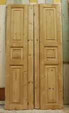 A PAIR OF VERY PRETTY PINE GEORGIAN SHUTTERS FOR ENSUITE / CUPBOARD ref 982