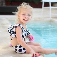 Toddler Kids Baby Girl Straps Cow Swimwear Bathing Bikini Set Beachwear Swimsuit