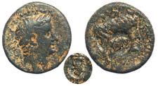 Roman Provincial Claudius AE22 with countermark