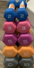 CAP Neoprene Hex Dumbbell  Lot Weights  10lb, 8lb, 5lb, 3lb, 2lb All New 56lbs