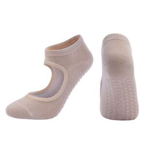 Ladies Backless Yoga Socks Professional Dance Sports Socks Fitness Anti-Slip