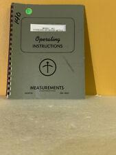 Boonton Model 140 Standard Deviation Meter Operating Instructions