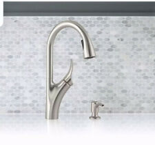 Kohler Transitional Touchless Kitchen Faucet+Soap Dispenser Brushed Nickel (1606