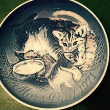 B&G Copenhagen Plate Mothers Day 1971 Cats Mors Day