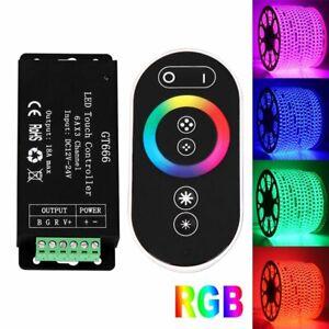 LED Strip RGB RF Touch Controller + Fernbedienung 12-24V 18A für RGB LED Stripe