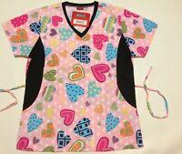 NWT Nurses Uniforms Scrub Tops 55/%cotton//45/%polyester XS-2X BH424