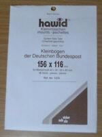 HAWID SCHAUFIX Block MOUNTS BLACK Pack of 10 156mm x 116mm - Ref. No.1235