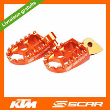 REPOSE CALE PIEDS EVO KTM 50 65 125 150 250 350 450 SX SXF EXC EXCF ORANGE SCAR
