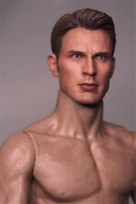1/6 Scale Captain America Male Head Sculpt Steve Rogers F 12'' Action Figures